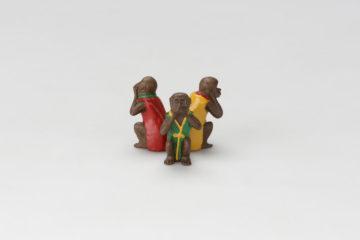 三猿蓋置(言わざる)