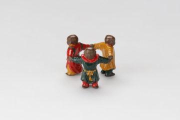 色絵三人形蓋置